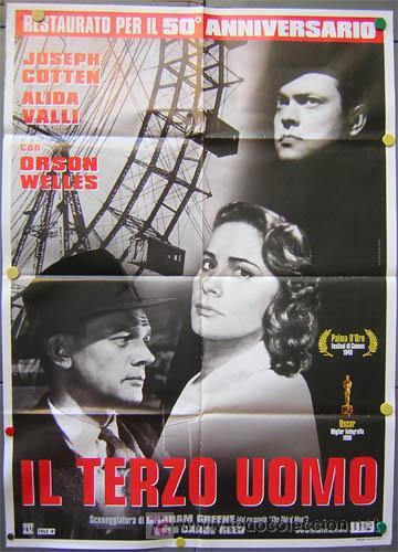 SK37 EL TERCER HOMBRE ORSON WELLES POSTER ORIGINAL 100X140 ITALIANO (Cine - Posters y Carteles - Suspense)