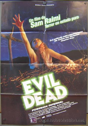 T01799 POSESION INFERNAL EVIL DEAD SAM RAIMI POSTER ORIGINAL 70X100 ESPAÑOL (Cine - Posters y Carteles - Terror)