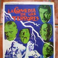 Cine: CARTEL DE CINE LA COMEDIA DE LOS TERRORES 35X50. Lote 26585465
