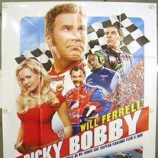 Cine: T01970 PASADO DE VUELTAS WILL FERRELL NASCAR CAR RACING POSTER ORIGINAL ITALIANO 140X200. Lote 4779290