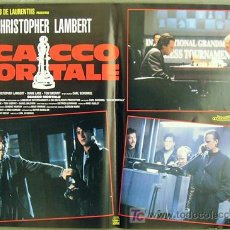 Cine: T02031 JAQUE AL ASESINO LAMBERT AJEDREZ DIANE LANE SET DE 6 POSTERS ITALIANO 47X68. Lote 4781152