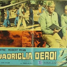Cine: VF57D INFIERNO EN LAS NUBES JOHN WAYNE POSTER ORIGINAL ITALIANO 47X68 B. Lote 4988509