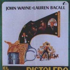 Cine: SF92 EL ULTIMO PISTOLERO JOHN WAYNE JAMES STEWART POSTER ORIGINAL 70X100 DE ESTRENO. Lote 4856679