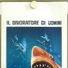 Cine: SN44 AGUA AZUL MUERTE BLANCA DOCUMENTAL TIBURON POSTER ORIGINAL ITALIANO 33X70. Lote 4861696