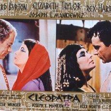 Cine: AL30 CLEOPATRA ELIZABETH TAYLOR ESPECTACULAR SET DE 6 POSTERS ORIGINALES ITALIANOS 47X68. Lote 13980672