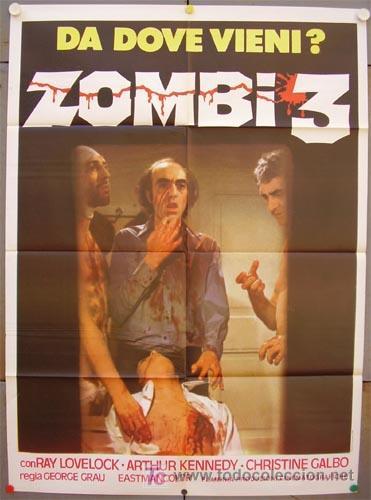 ZL74D NO PROFANAR EL SUEÑO DE LOS MUERTOS JORGE GRAU POSTER ORIGINAL ITALIANO 100X140 (Cine - Posters y Carteles - Terror)
