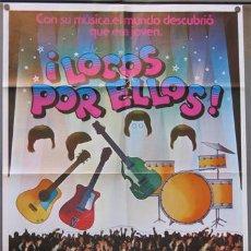 Cine: SE34 LOCOS POR ELLOS ROBERT ZEMECKIS THE BEATLES POSTER ORIGINAL 70X100 ESTRENO. Lote 4881545