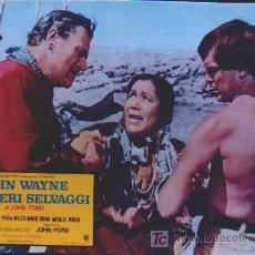 Cine: OZ94D CENTAUROS DEL DESIERTO JOHN WAYNE NATALIE WOOD POSTER ORIGINAL ITALIANO 47X68. Lote 4927460