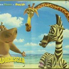 Cine: T02090 MADAGASCAR DREAMWORKS SET DE 4 POSTERS ORIGINAL ITALIANO 47X68. Lote 4929638
