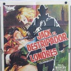 Cine: T02158 JACK EL DESTRIPADOR DE LONDRES PAUL NASCHY POSTER ORIGINAL 70X100 DEL ESTRENO. Lote 10843303