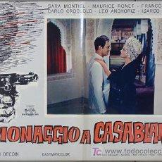 Cine: T02192 NOCHES DE CASABLANCA SARA MONTIEL POSTER ORIGINAL ITALIANO 47X68 B2. Lote 5077956