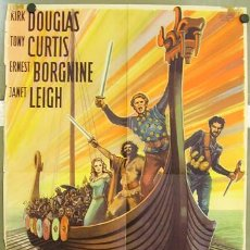 Cine: T02201 LOS VIKINGOS TONY CURTIS KIRK DOUGLAS JANET LEIGH POSTER ORIGINAL 60X84 ALEMAN. Lote 18146479