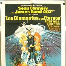Cine: RD29D DIAMANTES PARA LA ETERNIDAD JAMES BOND 007 SEAN CONNERY POSTER ARGENTINO 75X110 LITOGRAFIA. Lote 10875859