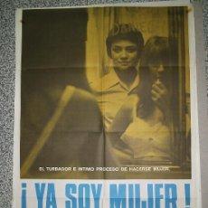 Cine: ¡YA SOY MUJER! - CARTEL DE CINE ORIGINAL DE 1982/ SUMMERS. Lote 5052335
