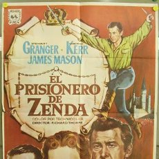 Cine: T02220 EL PRISIONERO DE ZENDA STEWART GRANGER DEBORAH KERR POSTER ORIGINAL 70X100. Lote 5079325