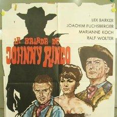 Cine: T02269 LA BALADA DE JOHNNY RINGO LEX BARKER SPAGHETTI POSTER ORIGINAL 70X100 DEL ESTRENO. Lote 5091743