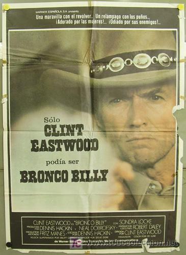 T02272 BRONCO BILLY CLINT EASTWOOD POSTER ORIGINAL 70X100 DEL ESTRENO (Cine - Posters y Carteles - Acción)