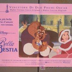 Cine: T02137 LA BELLA Y LA BESTIA WALT DISNEY SET 6 POSTERS ORIGINALES ITALIANOS 47X68. Lote 19755202