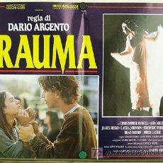 Cine: RE66D TRAUMA DARIO ARGENTO ASIA ARGENTO SET DE 6 POSTERS ITALIANO 47X68. Lote 10889656