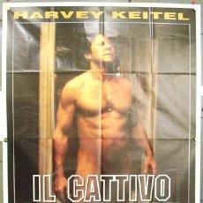 Cine: T02299 EL TENIENTE MALO BAD LIEUTENANT ABEL FERRARA HARVEY KEITEL POSTER ORIGINAL ITALIANO 140X200. Lote 5100054
