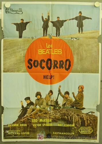 T02330D HELP SOCORRO THE BEATLES POSTER ORIGINAL 70X100 ESTRENO (Cine - Posters y Carteles - Musicales)