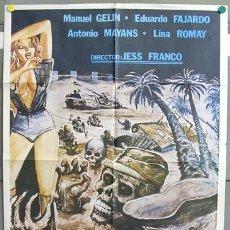 Cine: AAV80 LA TUMBA DE LOS MUERTOS VIVIENTES ZOMBIES JESUS FRANCO POSTER ORIGINAL 70X100 ESTRENO. Lote 10839149