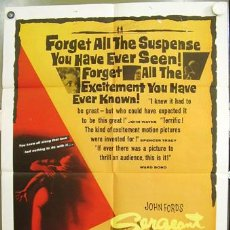 Cine: CCJ ZC29D EL SARGENTO NEGRO JOHN FORD JEFFREY HUNTER POSTER ORIGINAL AMERICANO 70X105. Lote 5193622