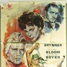 Cine: XB62D LOS BUCANEROS CHARLTON HESTON YUL BRYNNER POSTER ORIGINAL 3 HOJAS 200X100 ESTRENO. Lote 17373216