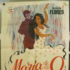 Cine: T02373 MARIA DE LA O LOLA FLORES POSTER ORIGINAL 70X100 DEL ESTRENO. Lote 18617645