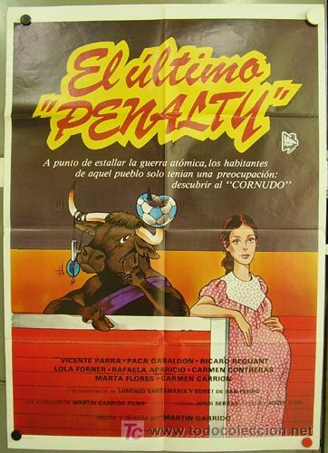T02409 EL ULTIMO PENALTY VICENTE PARRA FUTBOL POSTER ORIGINAL 70X100 DEL ESTRENO (Cine - Posters y Carteles - Deportes)