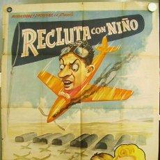 Cine: T02421 RECLUTA CON NIÑO JOSE LUIS OZORES POSTER ORIGINAL 70X94 MEJICANO. Lote 19351947