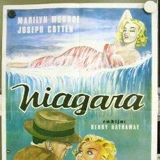 Cine: T02417 NIAGARA MARILYN MONROE POSTER ORIGINAL YUGOSLAVO 47X68. Lote 7016561