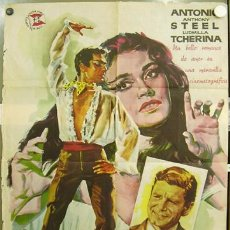 Cine: T02433 LUNA DE MIEL ANTONIO MICHAEL POWELL LUDMILLA TCHERINA POSTER ORIGINAL 70X100 DEL ESTRENO. Lote 12626586