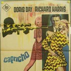 Cine: T02459 CAPRICHO DORIS DAY RICHARD HARRIS POSTER ORIGINAL 70X100 DEL ESTRENO. Lote 5203090