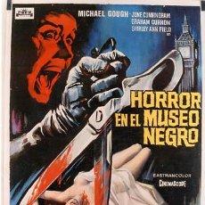 Cine: T02455 HORROR EN EL MUSEO NEGRO MICHAEL GOUGH SOLIGO POSTER ORIGINAL 70X100 ESTRENO. Lote 7218597