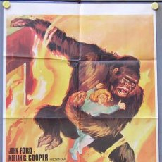 Cine: T02469 EL GRAN GORILA BEN JOHNSON KONG FILM JANO POSTER ORIGINAL 70X100 ESPAÑOL R-68. Lote 5203826