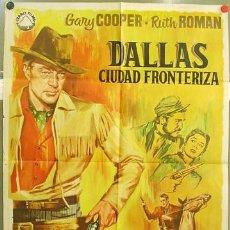 Kino - T02491 DALLAS CIUDAD FRONTERIZA GARY COOPER RUTH ROMAN POSTER ORIGINAL 70X100 - 13578670