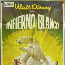 Cine: T02530 INFIERNO BLANCO WALT DISNEY POSTER ORIGINAL 70X100 DEL ESTRENO. Lote 5211708