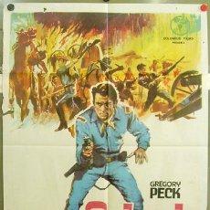 Cine: T02531 SOLO EL VALIENTE GREGORY PECK MONTALBAN POSTER ORIGINAL 70X100 ESPAÑOL. Lote 10815156
