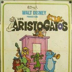 Cine: T02574 LOS ARISTOGATOS WALT DISNEY POSTER ORIGINAL 70X100 ESTRENO. Lote 5213811