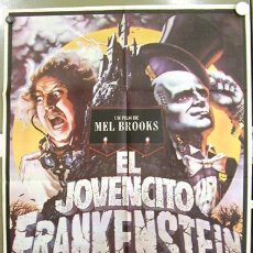 Cine: T02564 EL JOVENCITO FRANKENSTEIN MEL BROOKS GENE WILDER POSTER ORIGINAL 70X100 ESTRENO. Lote 5213798