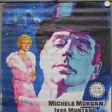 Cine: T02644 MARGARITA DE LA NOCHE YVES MONTAND MICHELE MORGAN POSTER ORIGINAL 70X100 DEL ESTRENO. Lote 5249410