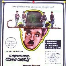 Cine: T02746 CHAPLIN EL REY DE LA RISA CHARLES CHAPLIN POSTER ORIGINAL 70X100. Lote 5258417