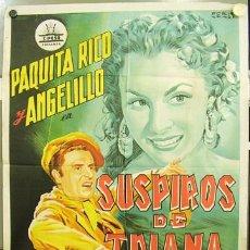 Cine: T02708 SUSPIROS DE TRIANA PAQUITA RICO ANGELILLO CIFESA PERIS ARAGO POSTER 70X100 ESTRENO LITOGRAFIA. Lote 14158114