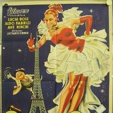 Cine: WV76D PARIS SIEMPRE PARIS LUCIA BOSE POSTER ORIGINAL 70X100 ESTRENO LITOGRAFIA. Lote 17756787