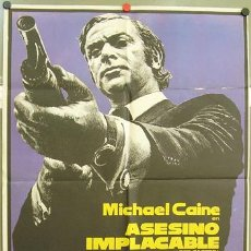 Cine: ZK64D ASESINO IMPLACABLE GET CARTER MICHAEL CAINE POSTER ORIGINAL 70X100 DEL ESTRENO. Lote 12669120