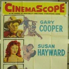 Cine: XH34D EL JARDIN DEL DIABLO GARY COOPER SUSAN HAYWARD RICHARD WIDMARK POSTER ORIGINAL USA 105X210. Lote 13304938