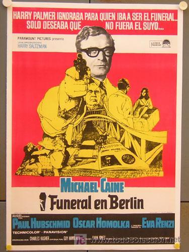 T02873 FUNERAL EN BERLIN MICHAEL CAINE POSTER ORIGINAL ESPAÑOL 70X100 ENTELADO (Cine - Posters y Carteles - Suspense)