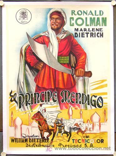 T02862 EL PRINCIPE MENDIGO MARLENE DIETRICH RONALD COLMAN POSTER ORIGINAL 70X100 ENTELADO LITOGRAFIA (Cine - Posters y Carteles - Aventura)