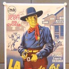 Cine: XI12D LA CALLE DE LOS CONFLICTOS RANDOLPH SCOTT POSTER ORIGINAL ESPAÑOL 70X100 ENTELADO LITOGRAFIA. Lote 17088287